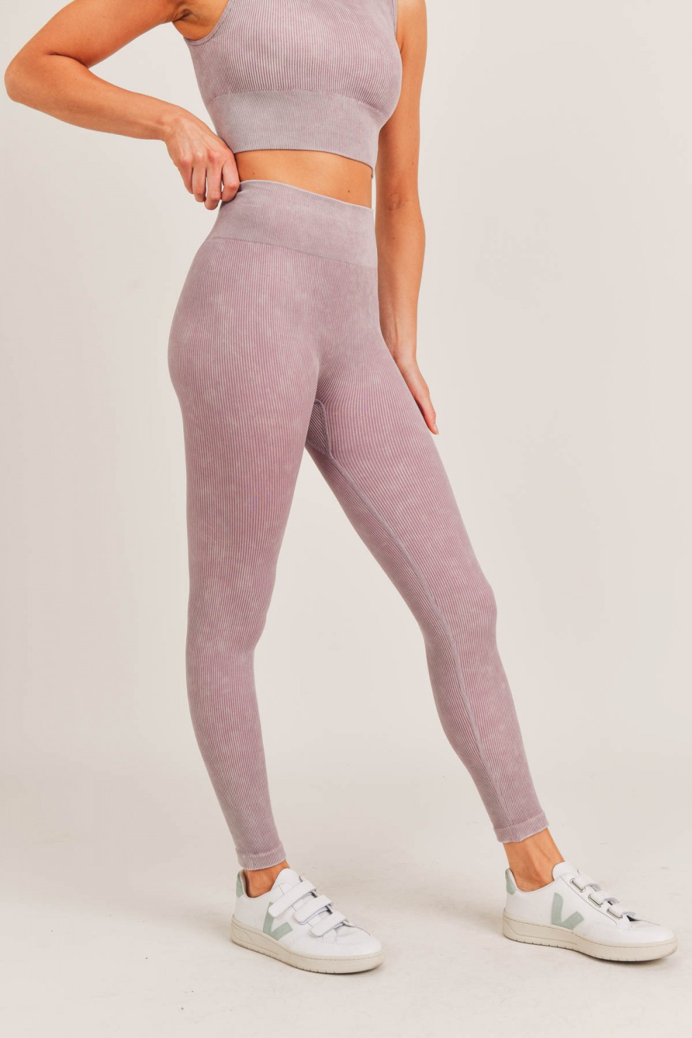 APH2801<br/>Ribbed Essential Mineral Wash Seamless Highwaist Leggings (APH2801)