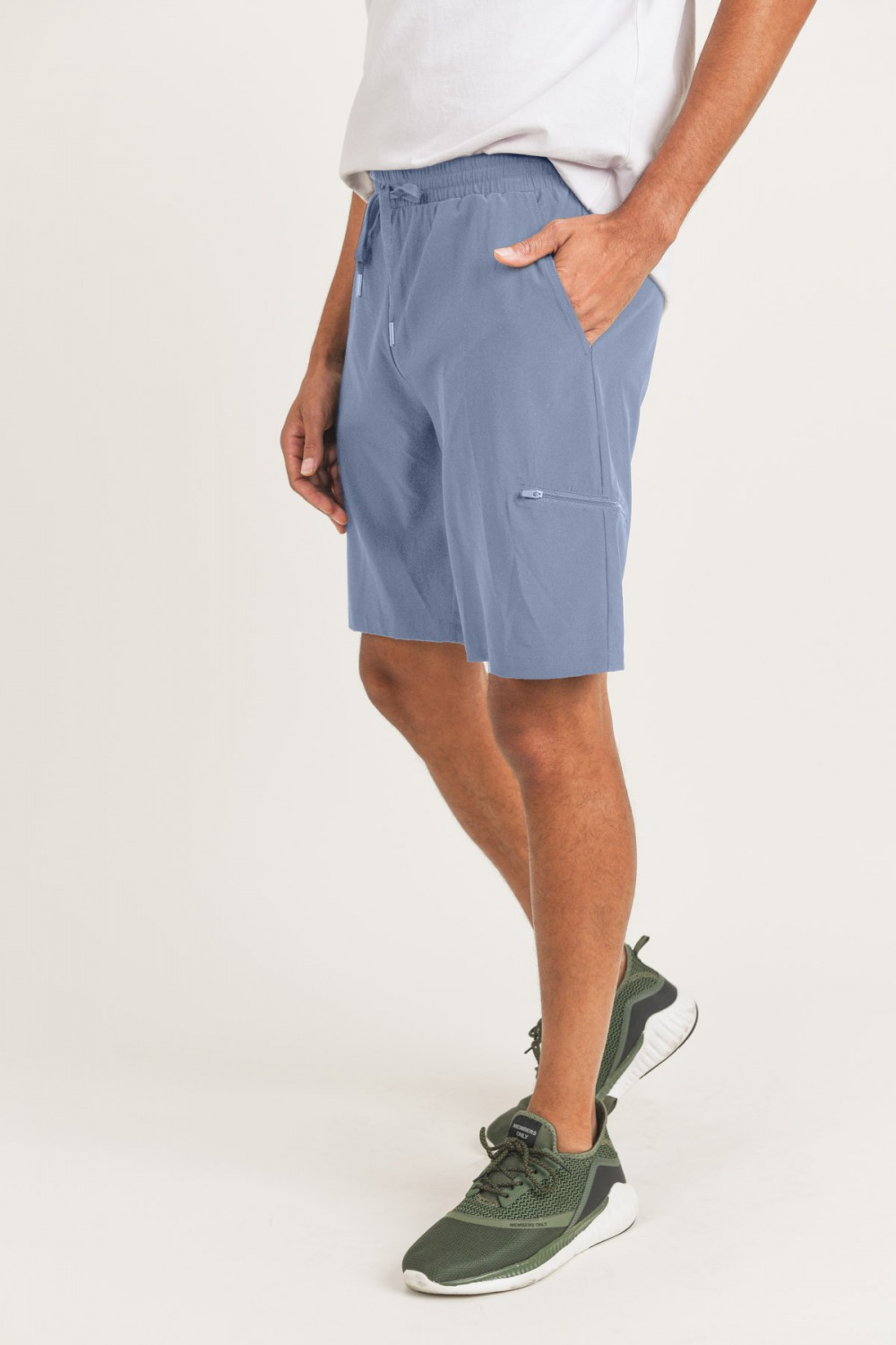 MB507<br/>Mono B MEN - Active Drawstring Shorts with Zippered Pouch (MB507)